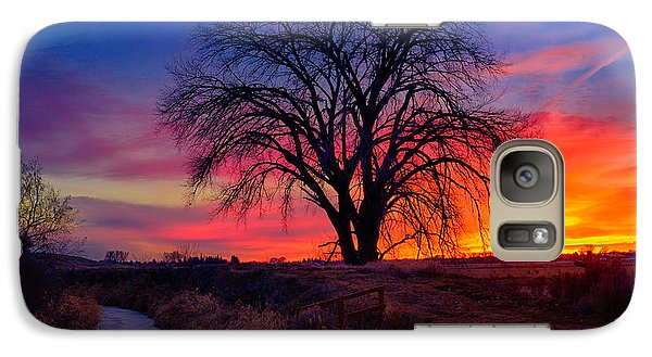 Galaxy Case featuring the photograph Idaho Winter Sunset by Greg Norrell