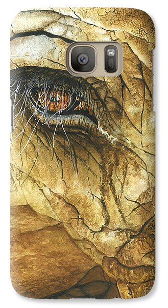 Galaxy Case featuring the painting If You Could See What I've Seen... by Barbara Jewell