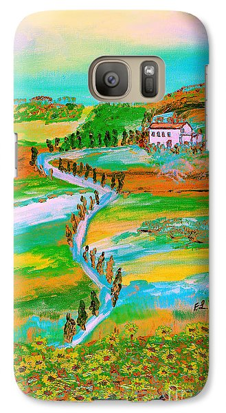 Galaxy Case featuring the painting  Tuscan Countryside by Loredana Messina