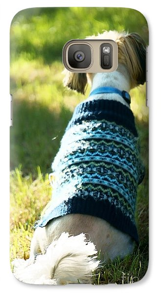 Galaxy Case featuring the photograph I'll Be Waiting For You by Ellen Cotton