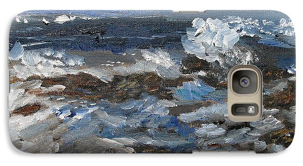 Galaxy Case featuring the painting I'll Have A Water On The Rocks Please by Michael Helfen