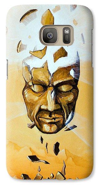 Galaxy Case featuring the painting Illuminator by Mariusz Zawadzki