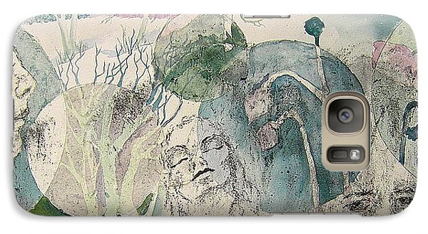 Galaxy Case featuring the painting Illusive Search by Carolyn Rosenberger