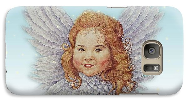 Galaxy Case featuring the painting Illustrated Twinkling Angel by Judith Cheng