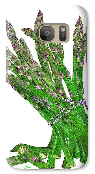 Galaxy Case featuring the painting Illustration Of Asparagus by Nan Wright