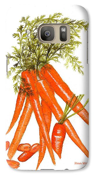 Galaxy Case featuring the painting Illustration Of Carrots by Nan Wright