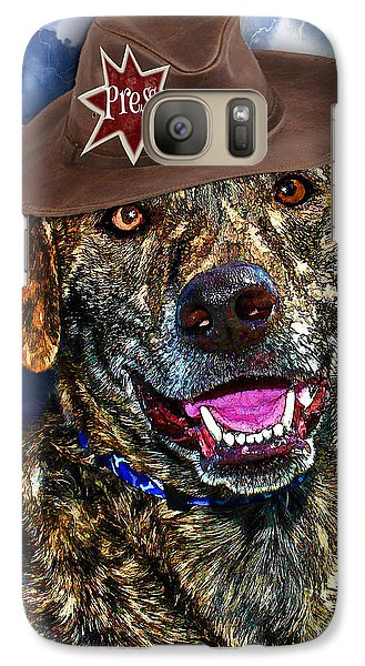 Galaxy Case featuring the digital art I'm A Canine Community Reporter by Kathy Tarochione