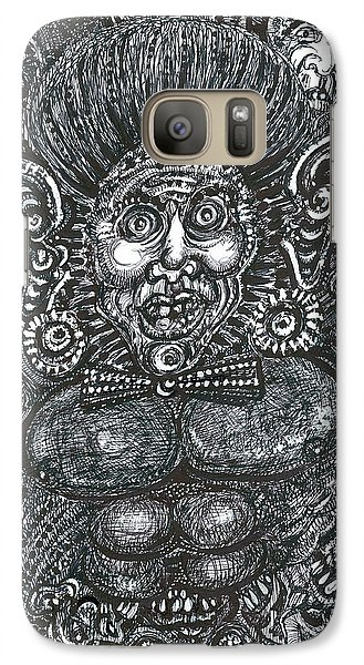 Galaxy Case featuring the mixed media I'm All Ears by Giovanni Caputo
