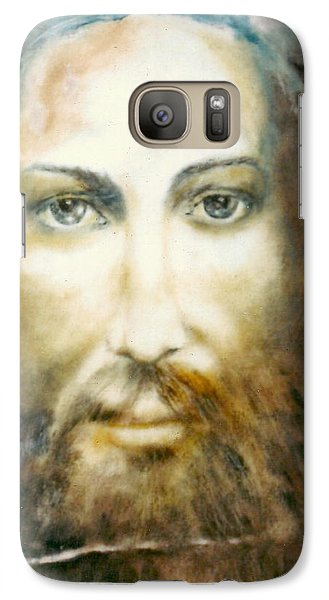 Galaxy Case featuring the painting Image Of Christ by Henryk Gorecki