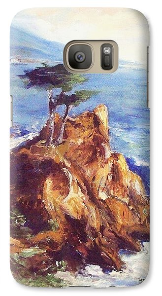 Galaxy Case featuring the painting Imaginary Cypress by Eric  Schiabor