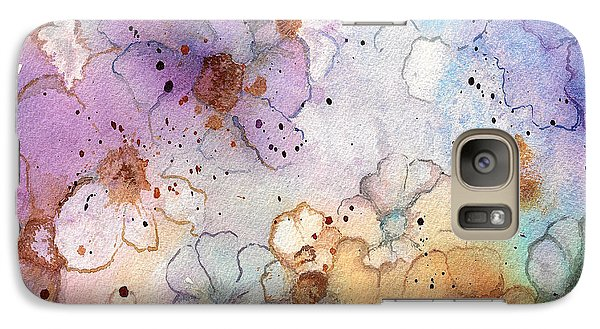 Galaxy Case featuring the painting Imaginary Figments Abstract Flowers by Nan Wright