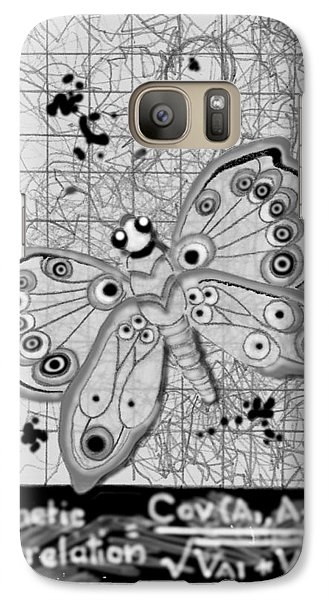 Galaxy Case featuring the digital art Imaginary Lines by Carol Jacobs