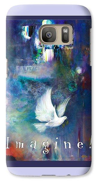 Galaxy Case featuring the painting Imagine 4 Kids by Brooks Garten Hauschild