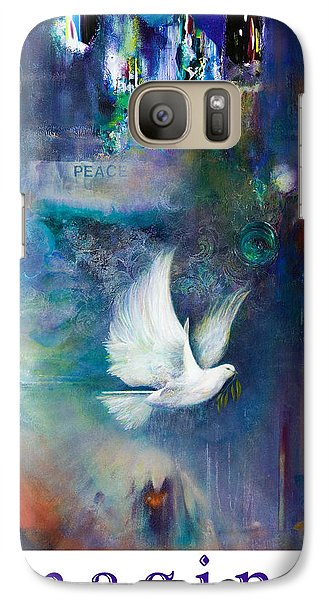 Galaxy Case featuring the painting Imagine - With White Border And Title by Brooks Garten Hauschild