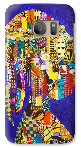 Galaxy Case featuring the tapestry - textile Imani by Apanaki Temitayo M