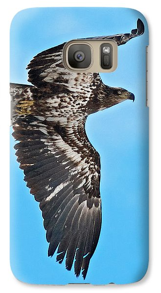 Galaxy Case featuring the photograph Immature Bald Eagle by Stephen  Johnson