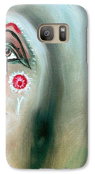 Galaxy Case featuring the painting Immortal Native by Ayasha Loya