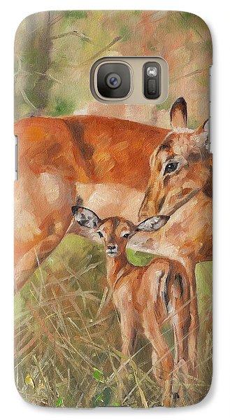 Impala Antelop Galaxy Case by David Stribbling