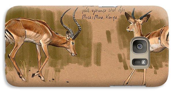 Galaxy Case featuring the digital art Impala Studdies by Aaron Blaise