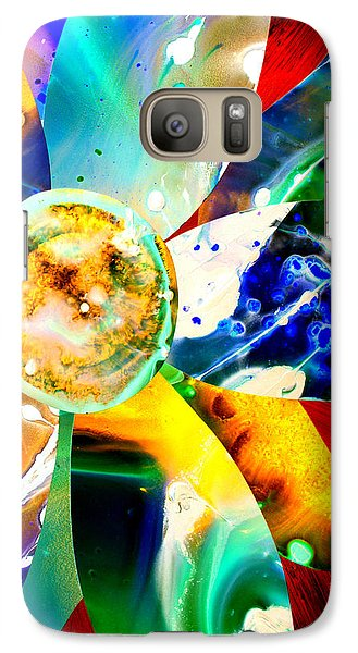 Galaxy Case featuring the painting Imperfection V by Christine Ricker Brandt