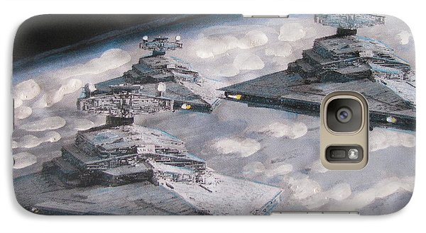 Galaxy Case featuring the painting Imperial Star Ship Destroyers by Vikram Singh
