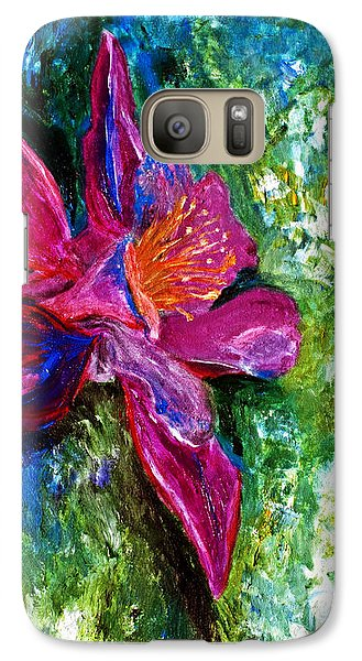 Galaxy Case featuring the painting Impression Of Columbine by Ayasha Loya