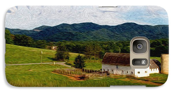Galaxy Case featuring the painting Impressionist Farming by John Haldane