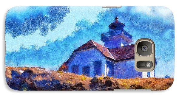 Galaxy Case featuring the digital art Impressionist Lime Kiln Lightouse by Kaylee Mason