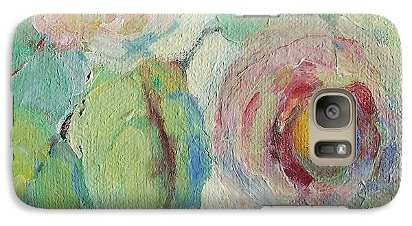 Galaxy Case featuring the painting Impressionist Roses  by Mary Wolf