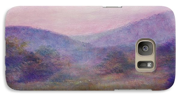 Galaxy Case featuring the painting Impressionistic Foggy Summer Morning  by Judith Cheng