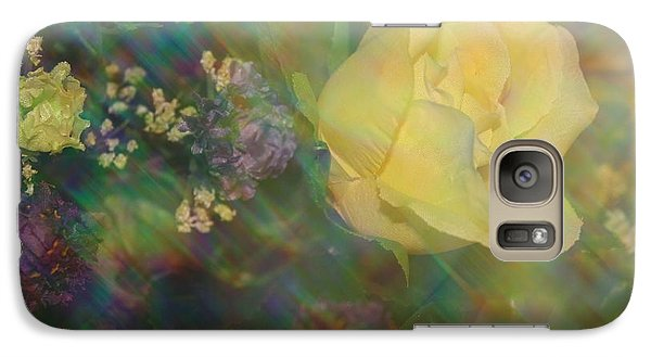 Galaxy Case featuring the photograph Impressionistic Yellow Rose by Dora Sofia Caputo Photographic Art and Design