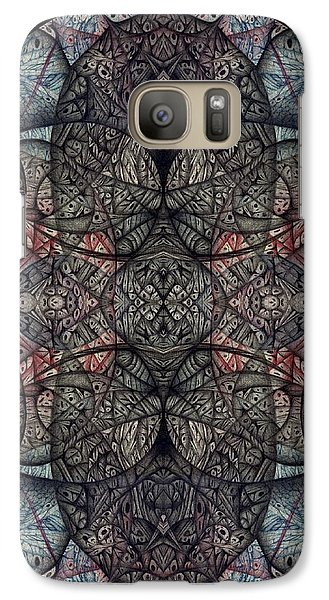 Galaxy Case featuring the drawing In Anticipation Of A Continuum Two A Digitized Ballpoint by Jack Dillhunt
