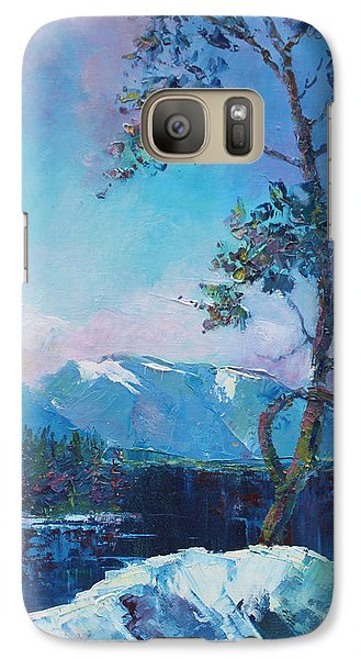 Galaxy Case featuring the painting In Blue Mood by Marta Styk