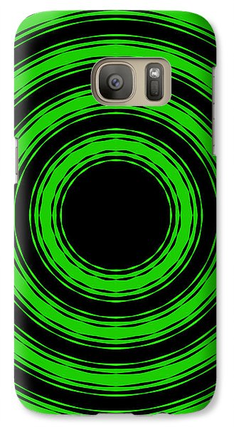 Galaxy Case featuring the painting In Circles-green Version by Roz Abellera Art
