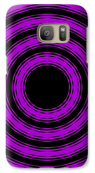 Galaxy Case featuring the painting In Circles-purple Version by Roz Abellera Art