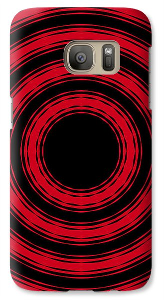 Galaxy Case featuring the painting In Circles- Red Version by Roz Abellera Art