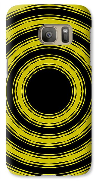 Galaxy Case featuring the painting In Circles- Yellow Version by Roz Abellera Art