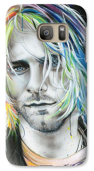 Kurt Cobain - ' In Debt For My Thirst ' Galaxy S7 Case by Christian Chapman Art