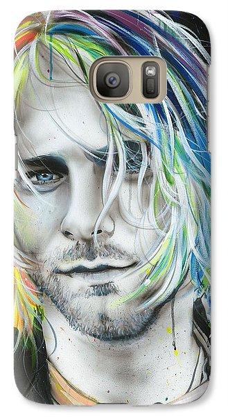 Kurt Cobain - ' In Debt For My Thirst ' Galaxy Case by Christian Chapman Art
