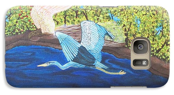 Galaxy Case featuring the painting In Flight by Cheryl Bailey