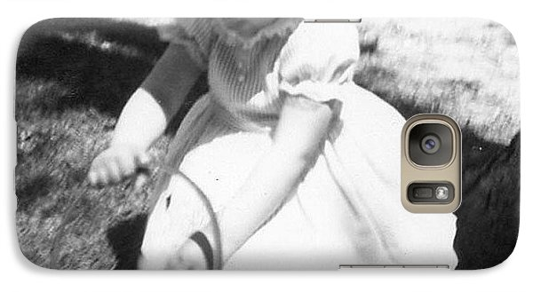 Galaxy Case featuring the photograph In Her Easter Bonnett 1963 by Margaret Harmon
