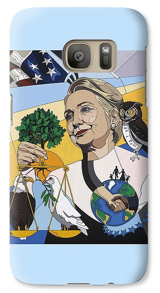 Hillary Clinton Galaxy S7 Case - In Honor Of Hillary Clinton by Konni Jensen