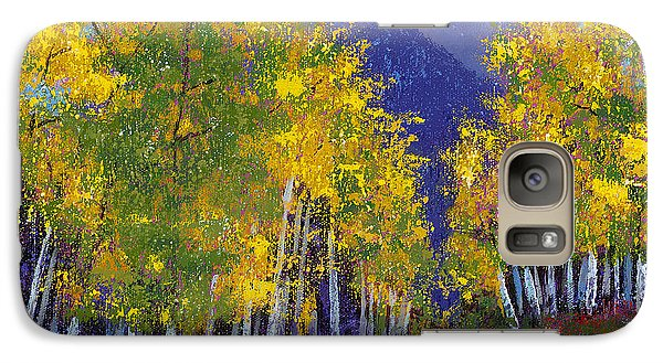 Galaxy Case featuring the painting In Love With Fall River Road by Margaret Bobb