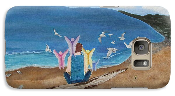 Galaxy Case featuring the painting In Meditation by Cheryl Bailey