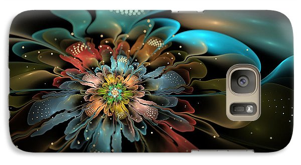 Galaxy Case featuring the digital art In Orbit by Kim Redd