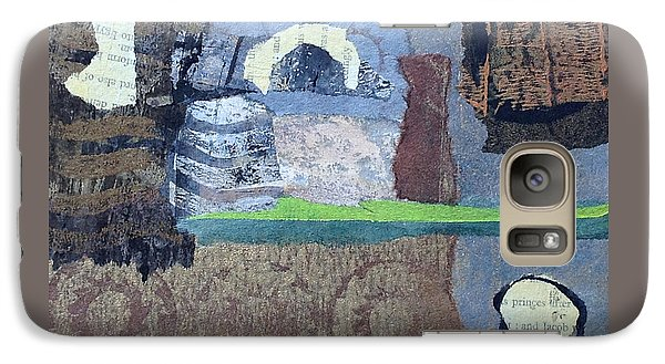 Galaxy Case featuring the mixed media In Ruins by Catherine Redmayne