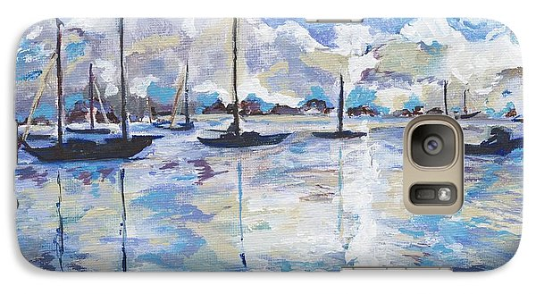 Galaxy Case featuring the painting In Search For America's Freedom by Helena Bebirian
