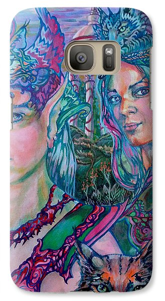 Galaxy Case featuring the painting In Silvermoon City by Suzanne Silvir