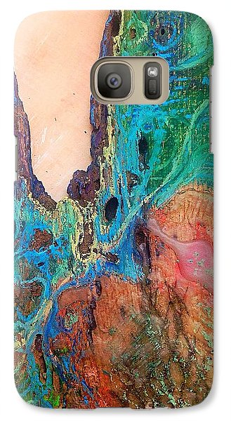Galaxy Case featuring the mixed media In Situ  by Delona Seserman