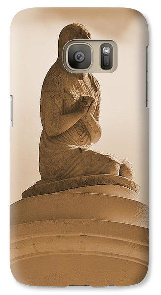 Galaxy Case featuring the photograph In Supplication by Nadalyn Larsen